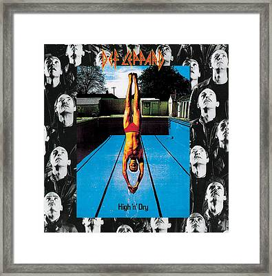 Def Leppard - High 'n' Dry 1981 Framed Print by Epic Rights