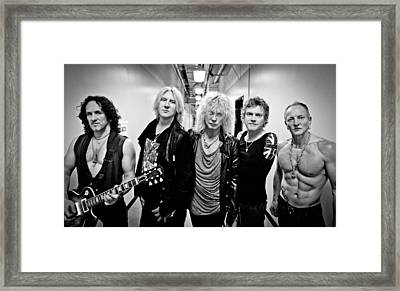 Def Leppard - Mirrorball Tour 2011 B&w Framed Print by Epic Rights