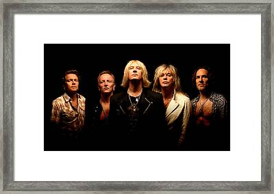 Def Leppard - Sparkle Lounge Tour 2008 Framed Print by Epic Rights