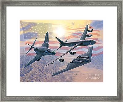 Defending Freedom Framed Print by Stu Shepherd