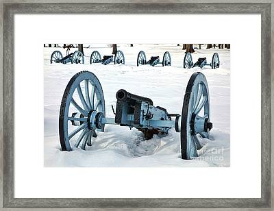 Defense Framed Print by Olivier Le Queinec