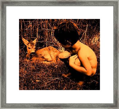 Defenseless  Framed Print by Giuseppe Epifani