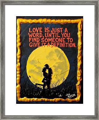 Definition Of Love Framed Print by Joe Kopler