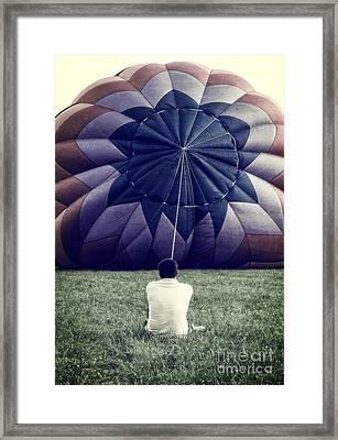 Deflated Framed Print by Edward Fielding