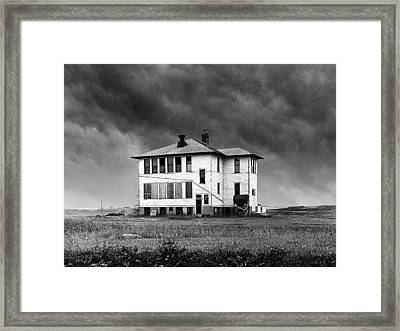 Defunct Rural School Building Framed Print by Donald  Erickson