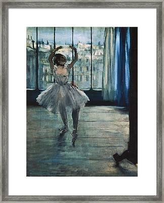 Degas, Edgar 1834-1917. Dancer Framed Print by Everett