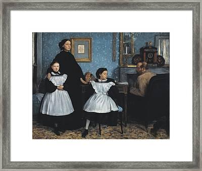 Degas, Edgar 1834-1917. The Bellelli Framed Print by Everett