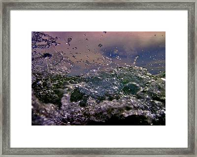 Degree Of Abstraction. Forces Of Nature. Drip Painting. Framed Print by Andy Za