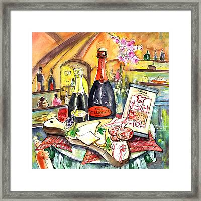 Degustation In Bergamo Framed Print by Miki De Goodaboom