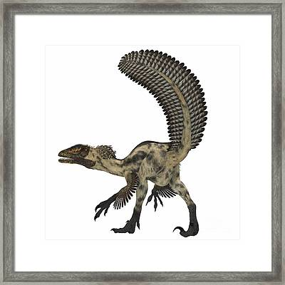 Deinonychus, A Carnivorous Dinosaur Framed Print by Corey Ford