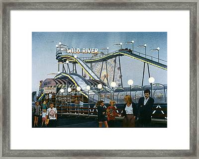 Del Mar Fair At Night Framed Print by Mary Helmreich