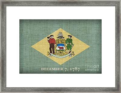 Delaware State Flag Framed Print by Pixel Chimp