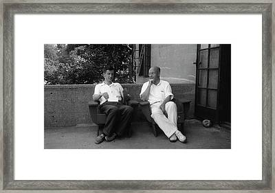 Delbruck And Stanley Framed Print by American Philosophical Society