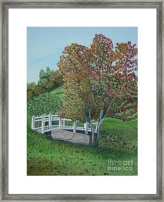Delfosse Bridge Framed Print by Gloria Patrick Sumter