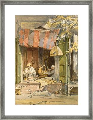 Delhi - Jeweller, From India Ancient Framed Print by William 'Crimea' Simpson