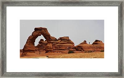 Delicate Arch Bryce Canyon Framed Print by Bruce Bley