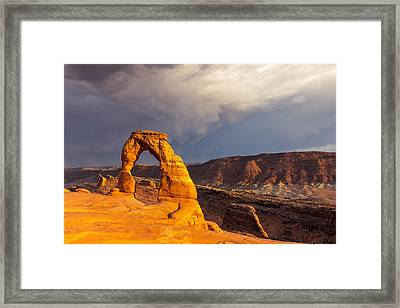 Delicate Arch Framed Print by Jim Baker