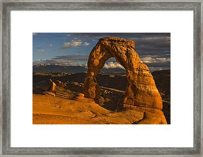 Delicate Arch Framed Print by Mark Kiver