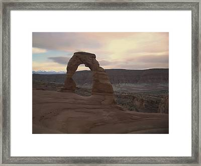Delicate Arch Framed Print by Taylor Visual Arts