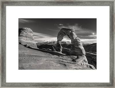 Delicate Arch Utah In Black And White Framed Print by Pierre Leclerc Photography