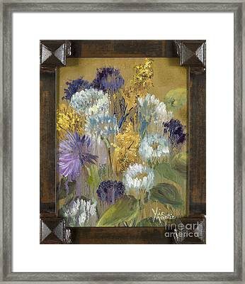 Delicate Aroma I With Gold Leaf By Vic Mastis Framed Print by Vic  Mastis