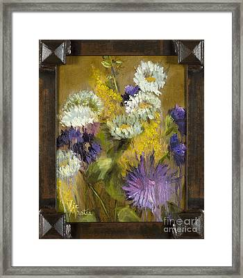 Delicate Aroma II With Gold Leaf By Vic Mastis Framed Print by Vic  Mastis