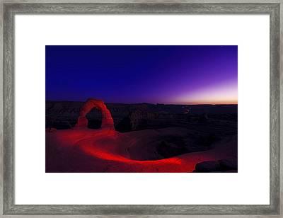 Delicate Twilight Framed Print by Dustin  LeFevre