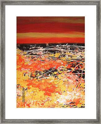 Delire Automnal Or Fall Extasy Framed Print by Margarete M Kedl
