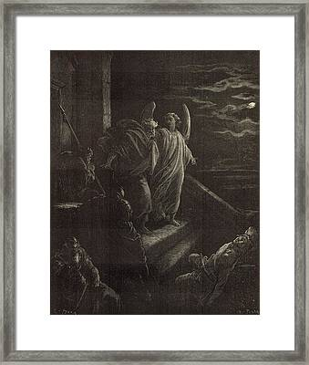 Deliverence Of St. Peter Framed Print by Antique Engravings