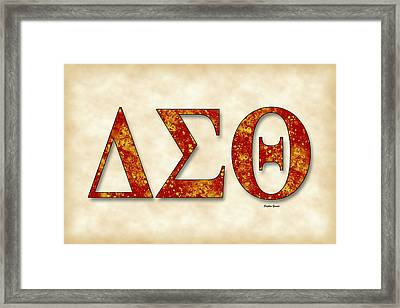 Delta Sigma Theta - Parchment Framed Print by Stephen Younts