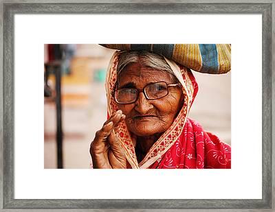 Demanding Eyes Framed Print by Money Sharma