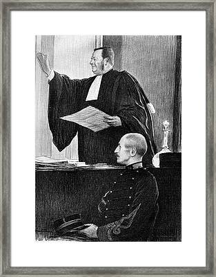 Demange And Dreyfus In Court Framed Print by Collection Abecasis