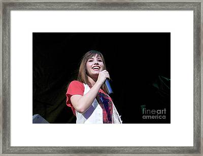 Demi Lovato Framed Print by Front Row  Photographs