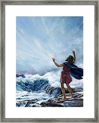 Demosthenes Framed Print by Andrew Howat