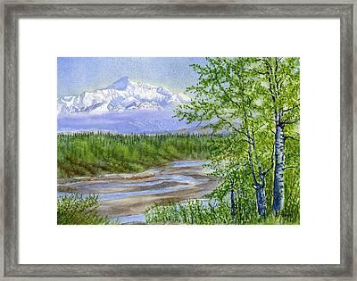 Denali Viewpoint Framed Print by Sharon Freeman
