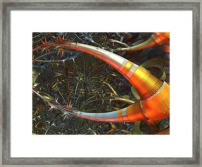 Dendrite Factory #9 Framed Print by Jeff Iverson
