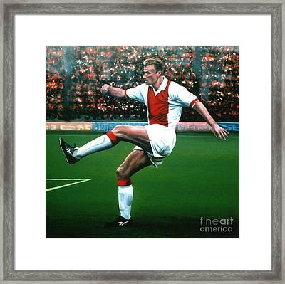 Dennis Bergkamp Ajax Framed Print by Paul Meijering