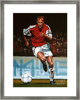 Dennis Bergkamp Framed Print by Paul Meijering