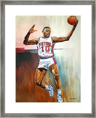 Dennis Rodman Bad Boy Pistons Framed Print by Michael  Pattison