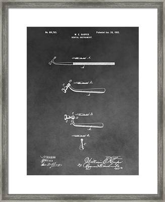 Dental Instrument Patent Framed Print by Dan Sproul