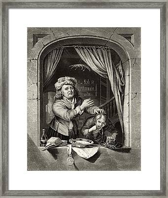 Dentist Pulling A Tooth, 19th Century Framed Print by Science Photo Library