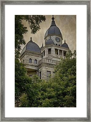 Denton County Courthouse Framed Print by Joan Carroll