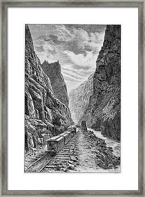 Denver And Rio Grande Railroad Framed Print by Cci Archives
