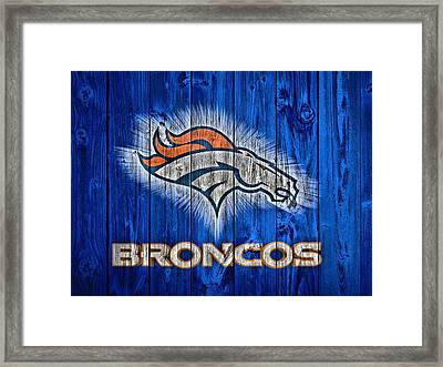 Denver Broncos Barn Door Framed Print by Dan Sproul
