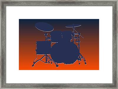 Denver Broncos Drum Set Framed Print by Joe Hamilton