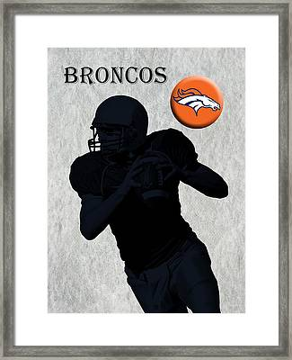 Denver Broncos Football Framed Print by David Dehner