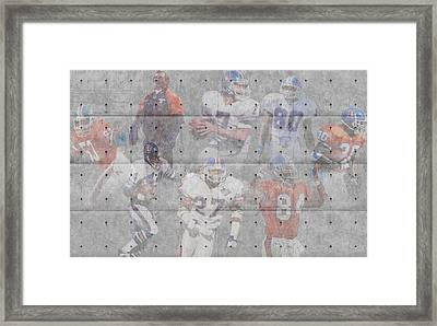Denver Broncos Legends Framed Print by Joe Hamilton