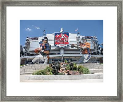 Denver Broncos Sports Authority Field Framed Print by Joe Hamilton