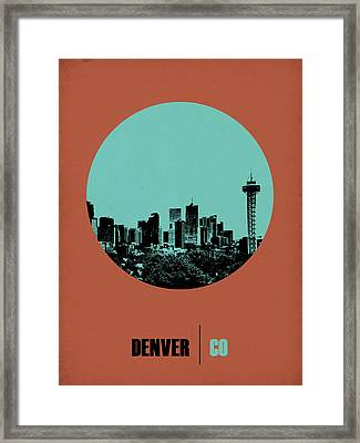 Denver Circle Poster 1 Framed Print by Naxart Studio