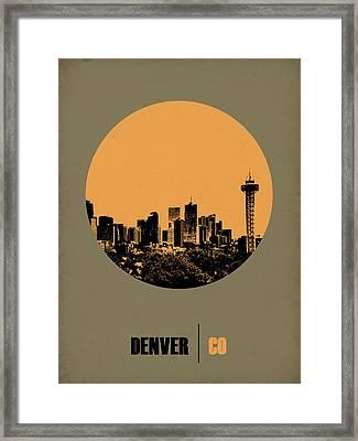 Denver Circle Poster 2 Framed Print by Naxart Studio